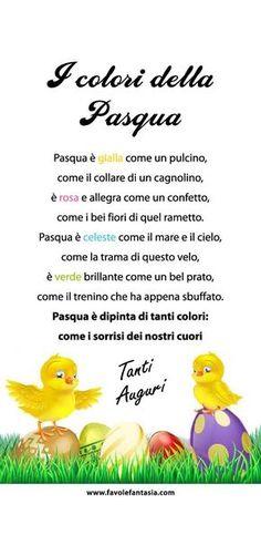 I colori della Pasqua Italian Lessons, I Love School, Italian Language, Learn A New Language, Learning Italian, Kindergarten Art, Easter Activities, Science For Kids, Kids Education