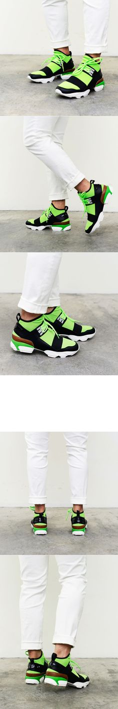Futuristic Stretchy Mesh Top Sneakers-Shoes 317 - GUYLOOK