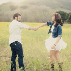I love there pic....A playful, sun-filled engagement session with a sweet, country vibe. @Tracy White Scott