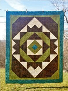 """Crown Jewel By Laird, Cathey  - 60in x 76in. Uses creative Grids CGR9. Project Time: 6 Hour+. Fabric Type: Yardage Friendly. Project Type: Quilt.  CLP patterns are printed on 8-1/2"""" x 11"""", anti-copy card stock. Because they are customized with your shop's Bill-to account name, phone number and web site, they are not returnable."""