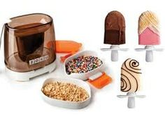 Zoku Chocolate Station Set is a great new way to broaden your frozen treat repertoire. Who doesn't want to add chocolate to - well most anything - and you can also add all manner of sprinkles and nuts too. Great addition to the basic Zoku Pop Maker. Chocolate Shells, Chocolate Filling, Chocolate Ice Cream, Chocolate Coating, Caramel Recipes, Chocolate Recipes, Cake Pops, Food Network Recipes, Dog Food Recipes