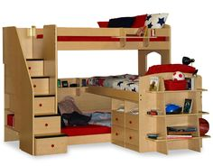 Space saving ideas for three kids that want to sleep in the same room!