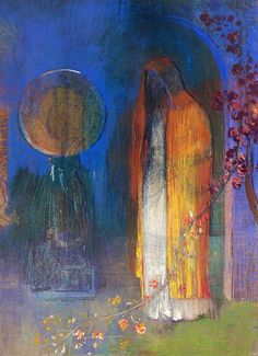 Odilon Redon / 1840-1916.  I always love Redon's use of color.  Learning from the master....