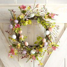 """Glittered Eggs 18"""" Wreath"""