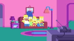 Simpsons Opening in Pixel Art_8