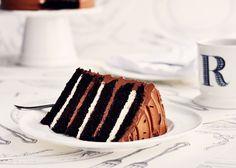 Campfire Delight: 6-layer Belgian Chocolate & Toasted Marshmallow Cake via Sweetapolita