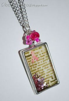 Dictionary necklace