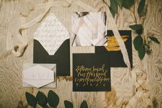 Rustic black & white wedding inspiration