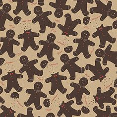Gingerbread Men Holiday Gift Wrap - Wrapping Paper - Petite Party Studio