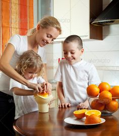 Buy Mother with children squeezed orange juice by TatyanaGl on PhotoDune. Happy mother with children squeezed orange juice Citrus Juicer, Orange Juice, Happy Mothers, Author, Stock Photos, Search, Children, Young Children, Boys