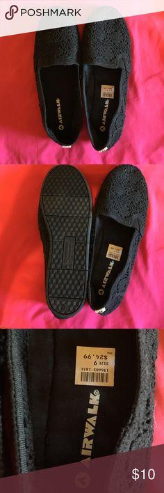 Airwalk black crochet flats. NWOT size 9 New without hang tag size 9 . Crochet black flats Airwalk Shoes Flats & Loafers