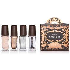 Limited edition shades! All the makings for the most magnificent mani in a giftable top-handled box. Includes four bottles: one base coat, two festive polishes, and one top coat. Regularly $12.00, shop Avon Cosmetics online at http://eseagren.avonrepresentative.com