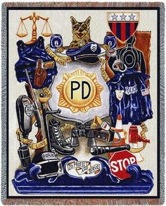 Personalized Policeman Pride Tapestry Throw