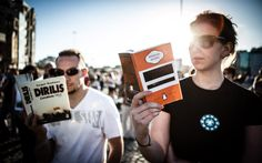 In Pictures: The Taksim Square Book Club Protesters stand silently and read books in central Istanbul, in stark contrast with scenes of violence.