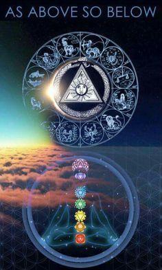 Illuminati, Wiccan, Magick, Pagan, Der Klang Des Herzens, Les Chakras, Mandala, Mystique, Visionary Art