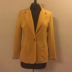 Mustard yellow blazer with one button Mustard yellow blazer with one button Jackets & Coats Blazers