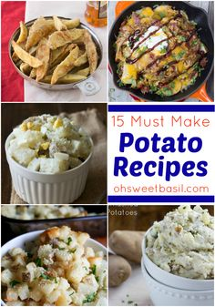 Potato, Potahto- Potato Recipes - 15 top potato recipes to make this fall Potato Dishes, Potato Recipes, Vegetable Side Dishes, Vegetable Recipes, Great Recipes, Favorite Recipes, Summer Recipes, Recipe Ideas, Cooking Tips