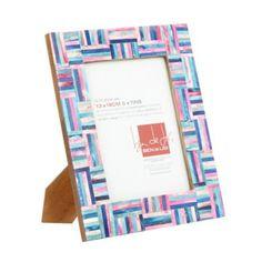 Ben de Lisi Home Designer blue and pink geometric 5 x 7 photo frame- at Debenhams.com £14.40