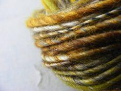 Winter Golds Corespun Handspun Artisan Yarn   by greybirdstudio, £22.00