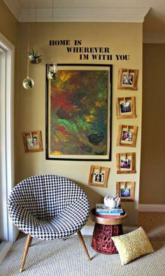Make a DIY oversized frame. #gallerywalls #homedecor