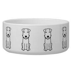 Lakeland Terrier Dog Cartoon Dog Food Bowl