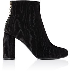Stella McCartney Women's Back-Zip Ankle Boots (5,885 CNY) ❤ liked on Polyvore featuring shoes, boots, ankle booties, ankle boots, colorless, high heel booties, short high heel boots, chunky heel booties and velvet ankle boots