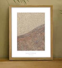 Art Print of 'The Shore Line'  sand on board at Relish Art Prints