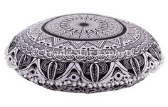 Large Indian Mandala Cushion Cover, 32' Round Floor Pillow , Ottoman Poufs, Ethnic Pillow Shams, Meditation Cushion, Boho Pillow Cases, Decorative Throw Pillow (Pattern 3) >>> More info could be found at the image url. (This is an affiliate link) #PillowCovers