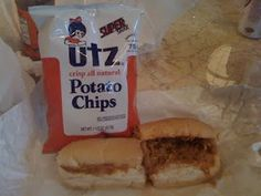 Todd's at Central Market, Lancaster, complete with Utz potato chips from Hanover, PA!