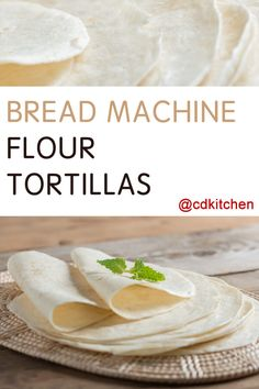 pizza - Made with bread flour, salt, shortening, water CDKitchen com Easy Bread Machine Recipes, Bread Maker Machine, Bread Maker Recipes, Bread Flour Recipes, Bread Machine Rolls, Bread Bun, Bread Rolls, Tortilla Bread, Tortilla Recipes