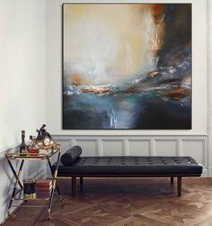 Großen zeitgenössischen grau Beige Malerei auf von BuyWallArt