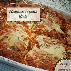 ☆Spaghetti Squash Bake☆     Gluten-free | Grain-free | 21 Day Fix Approved (container conversions included)!