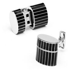 Check out this item at One Kings Lane! Pinstripe Oval USB Cuff Links (8GB)