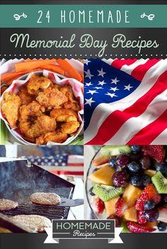 24 Homemade Memorial Day Recipes - Homemade Recipes | https://homemaderecipes.com/24-homemade-memorial-day-recipes/