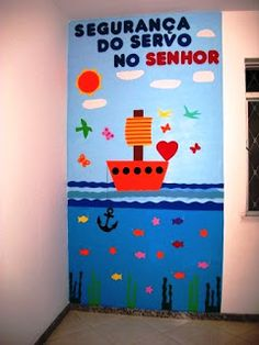 Ideias para decoração da salinha de Escola Biblica Infantil