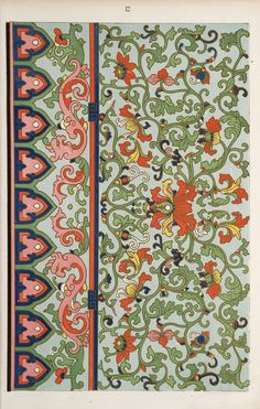 Examples of Chinese ornament, selected from objects in the South Kensington Museum and other collections : [estampe] / by Owen Jones Chinese Design, Chinese Art, Chinese Ornament, Chinese Prints, Art Nouveau, Owen Jones, Art And Craft, Street Art, Chinese Patterns