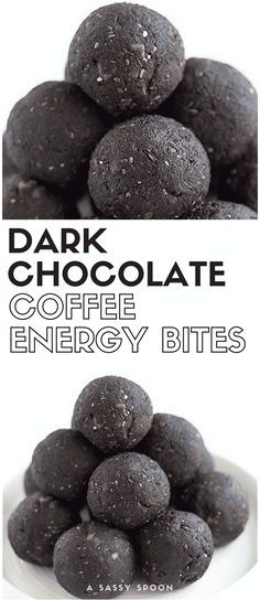 A caffeine fix in just one bite! These dark chocolate coffee energy bites are simple to make, healthy, and will satisfy your sweet tooth! via @asassyspoon