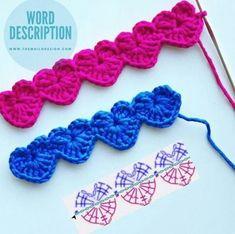 Cordon Crochet, Marque-pages Au Crochet, Crochet Mask, Crochet Motifs, Crochet Flower Patterns, Crochet Diagram, Crochet Trim, Crochet Gifts, Crochet Designs