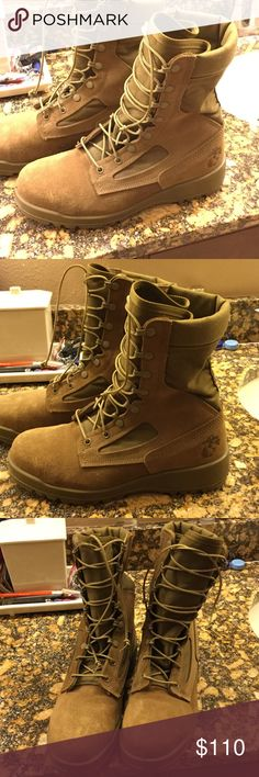 USMC BOOTS Size Men's 8.5 wide BELLEVILLE warm weather steel toe safety boots. Brand new. belleville boots Shoes Boots
