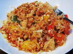 Syn Free One Pot Cajun Chicken & Rice – Basement Bakehouse Syn Free One Pot Cajun Chicken & Rice Bake – Slimming World – Recipe – Recipes – Dinner – Easy – Simple – Video – Recipe Slimming World Dinners, Slimming World Recipes Syn Free, Slimming Eats, Cajun Chicken And Rice, Chicken Rice Recipes, Cajun Rice, Pepper Chicken, Creamy Chicken, Chicken Pasta