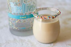 Cake Vodka Martini from Sugar Crafter (psst ... @Bailey Meier ... here's what you can do with that cake vodka if you have any left!)