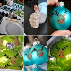 Image Source: Little Bit Funky Christmas will be arriving in a few hours time and those of you who haven't crafted anything yet will be happy to know this Easy Christmas Ornaments, Reindeer Ornaments, Simple Christmas, Christmas Bulbs, Christmas Crafts, Reindeer Christmas, Thanksgiving Crafts, T Craft, Craft Ideas