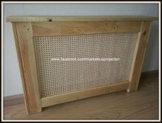 Radiator Cover From Pallet Wood Wall