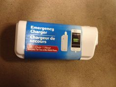 Apple iphone android etc 1 hr phone emergency phone charger NEW WHITE #GREENBRIER