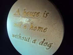 Hey, I found this really awesome Etsy listing at https://www.etsy.com/listing/171085767/dog-stone-wall-hanging-glitter-white-and