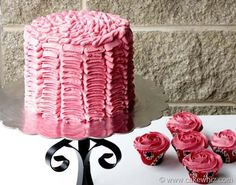 Ruffle cake with step by step pictures and instructions. It's actually much easier than it looks...
