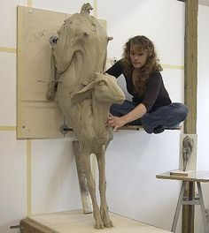 Beth Cavener Stichter, a Franklin High graduate (TN), the most important ceramic artist in the US today.                                                                                                                                                      More
