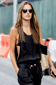 Alessandra Ambrosio. Ladies Streetstyle, Womenswear. Women's Fashion off duty