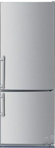Liebherr CS1400 14.0 cu. ft. Counter-Depth Bottom Freezer Refrigerator with Adjustable Glass Shelves, GlassLine Door Storage Racks, Gallon Storage and Flush Ceiling Lighting: Right Hinge Door Swing