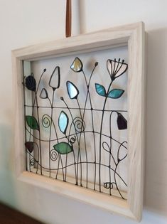 Wildflower Meadow Framed Stained Glass and Wire Window Decoration - Wildflower . - Wildflower Meadow Framed Stained Glass and Wire Window Decoration – Wildflower Meadow Framed Sta - Stained Glass Tattoo, Stained Glass Cookies, Stained Glass Door, Stained Glass Ornaments, Stained Glass Christmas, Stained Glass Flowers, Stained Glass Panels, Stained Glass Projects, Stained Glass Patterns